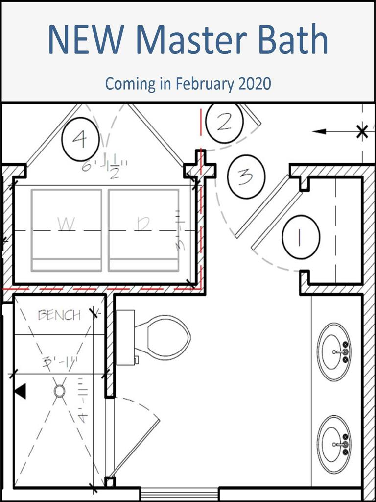 New Master Bath Plan