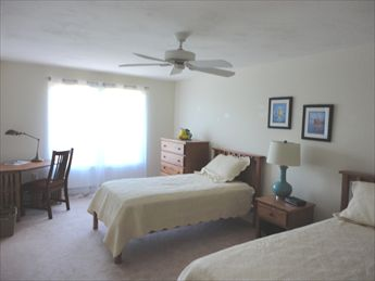 Upstairs bedroom with twins