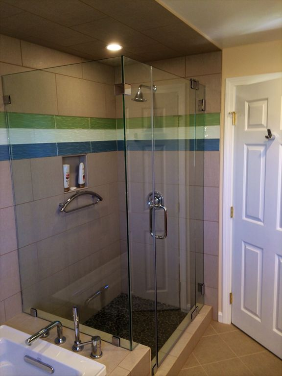 New upstairs shower