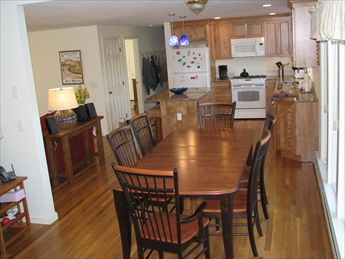Open Kitchen with granite counters, new lighting from Dining Area