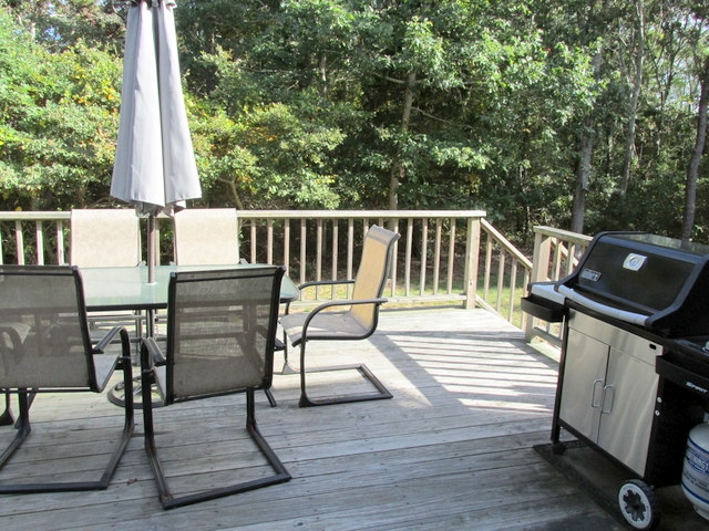 Back Deck ~ Dining and Gas Grill