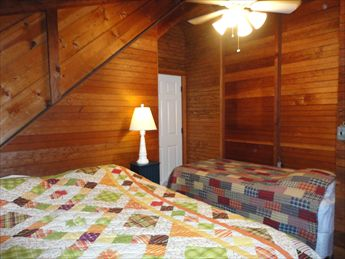 Second Floor Bedroom %352 with Queen and Twin