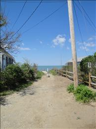 Beach access at end of road