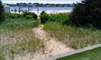 Beach path from yard