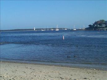 Harbor view to Nantucket sound- wonderful boat viewing vista