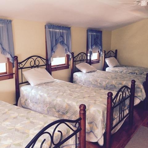 2nd floor bedroom with 4 twins