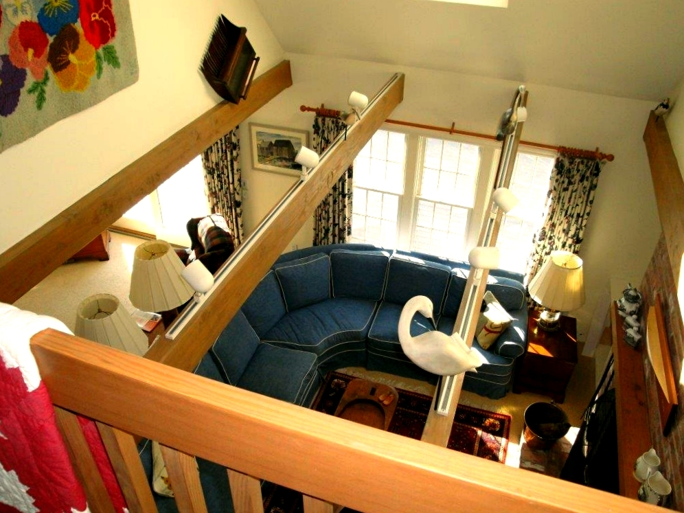 View of great room from upstairs landing