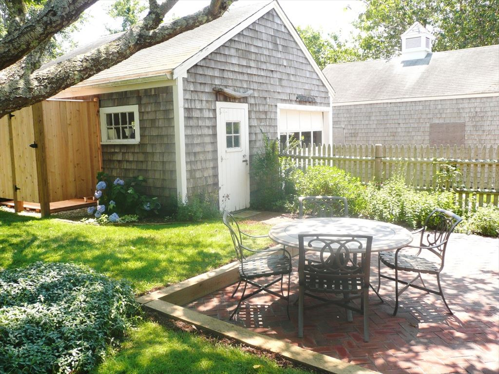 New Back patio under the cherry tree