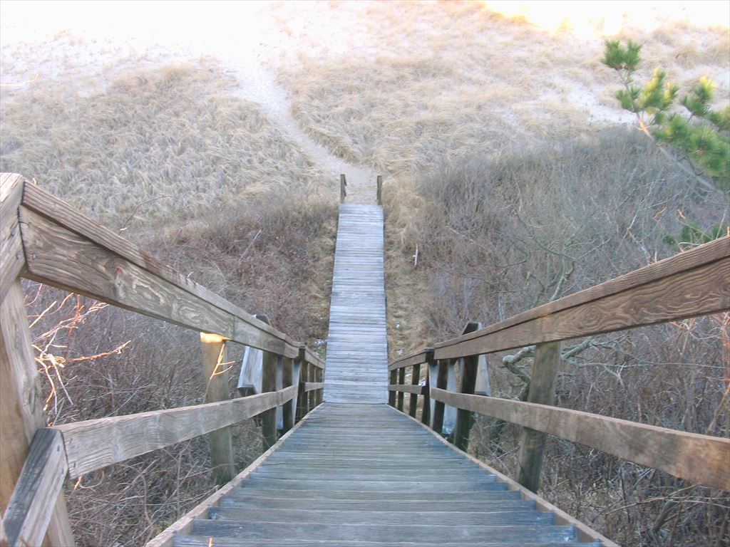 View of association staircase leading out to Nauset outer beach