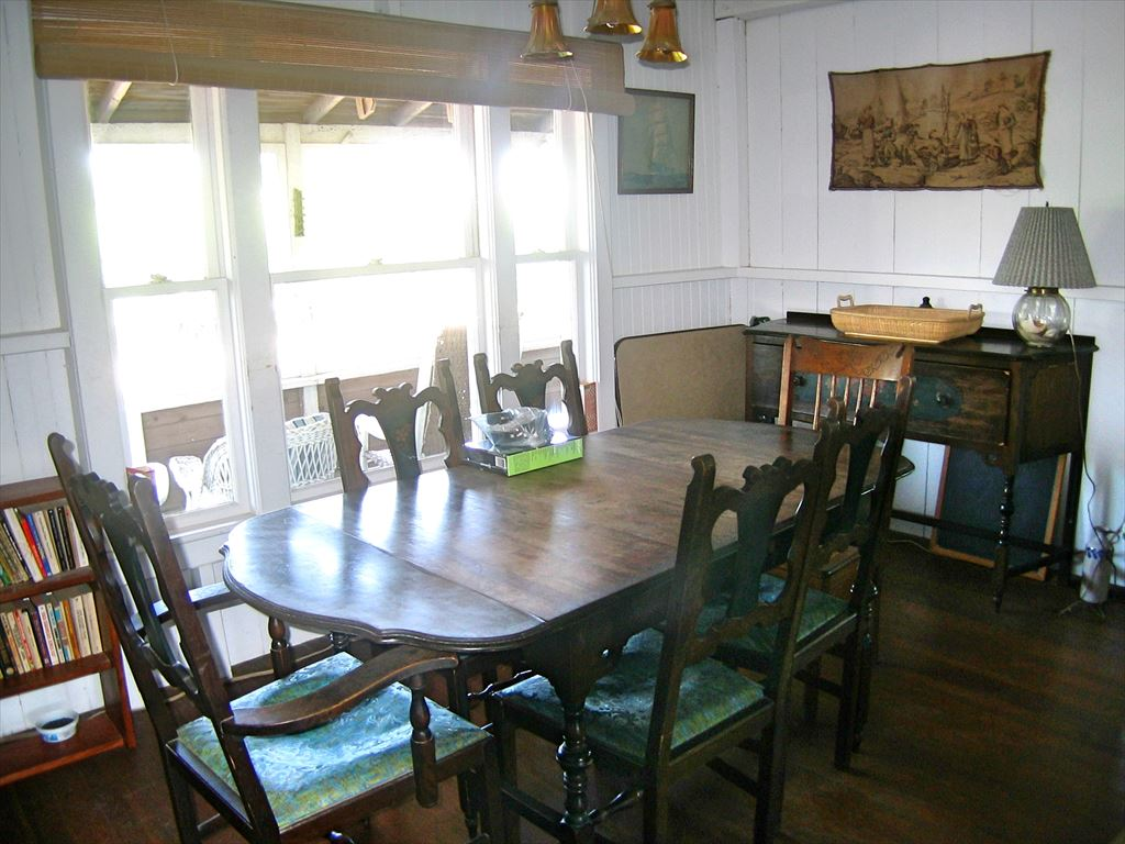 Dining room in the original part of the cottage