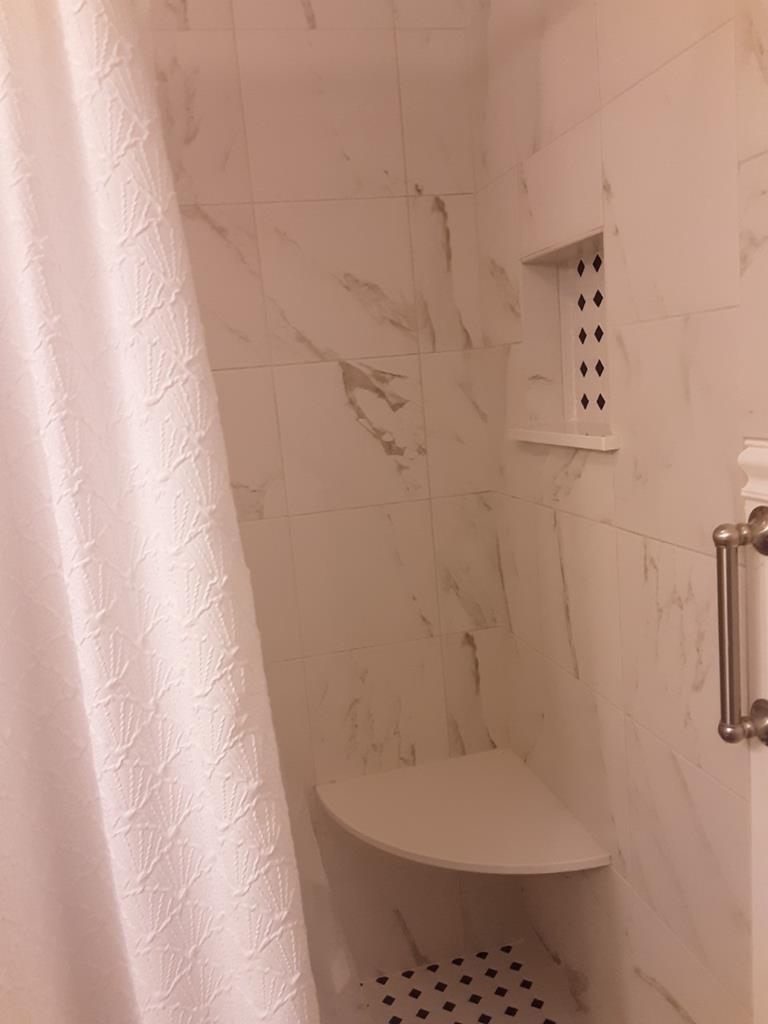 Remodeled TILE walk-in Shower NICELY DONE!