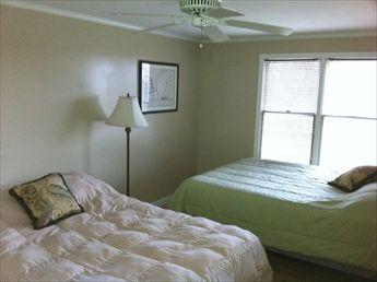 2nd floor bedroom with 1 queen and 1 full