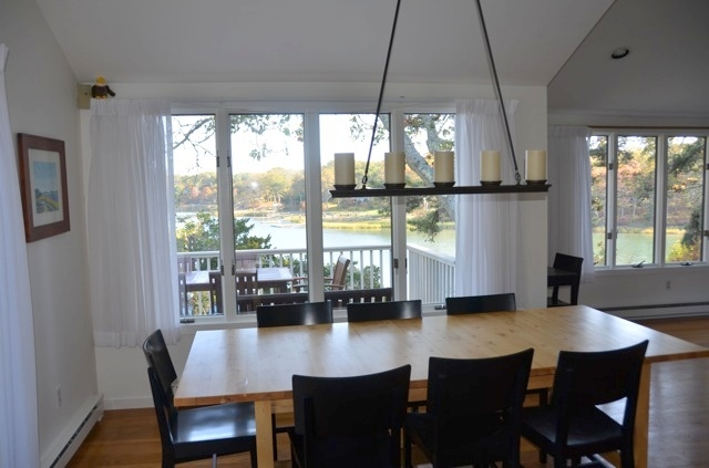 Dining room with waterviews