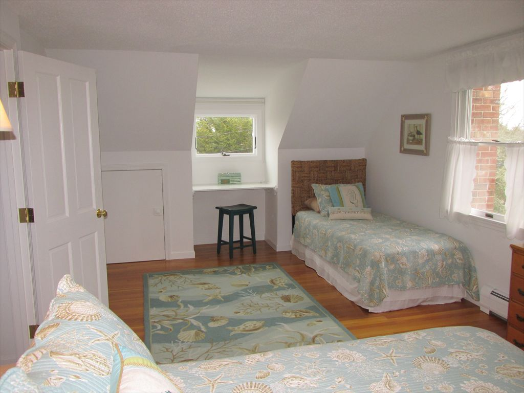 Another view of upstairs bedroom, queen & twin beds