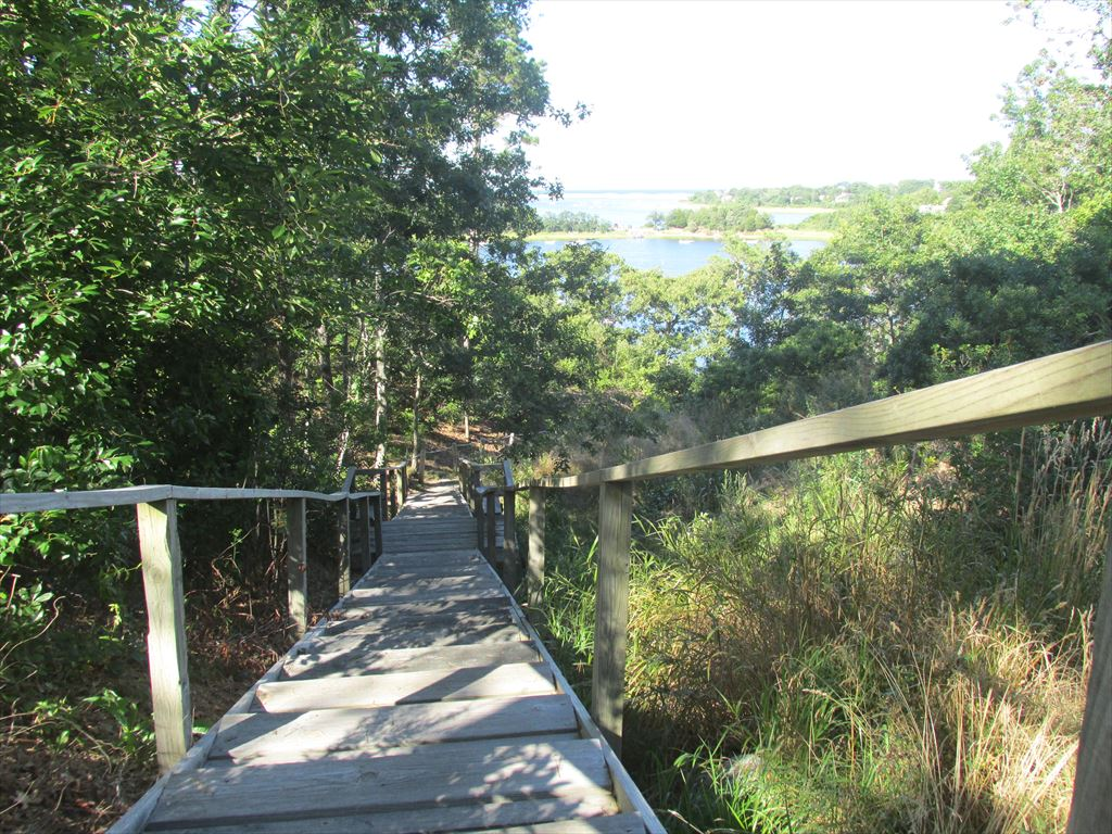 Association stairs to mill pond