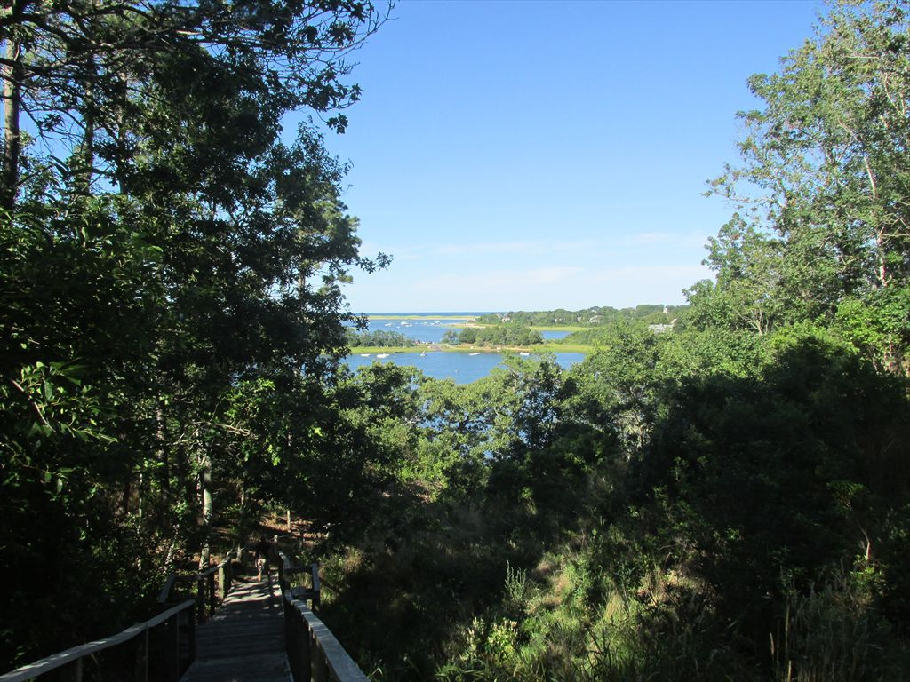 Top of Association Stairs to Mill Pond - views to Nauset Beach