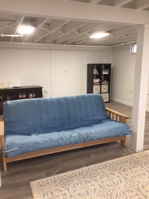 Futon in brand new finished basement