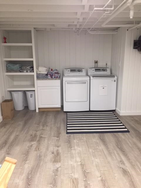 Laundry in newly finished basement