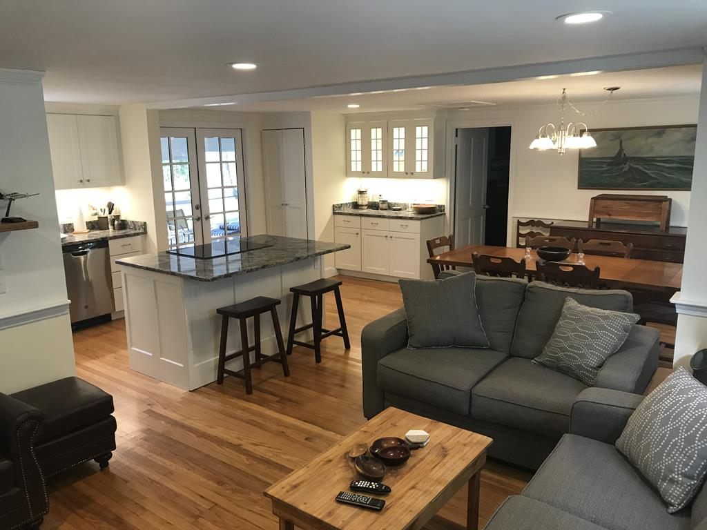 Living area open to kitchen