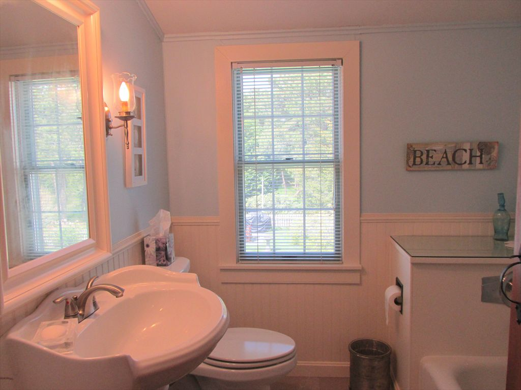Second floor bathroom with tub only- no shower