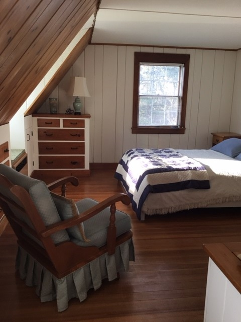 Second floor bedroom with queen & AC unit