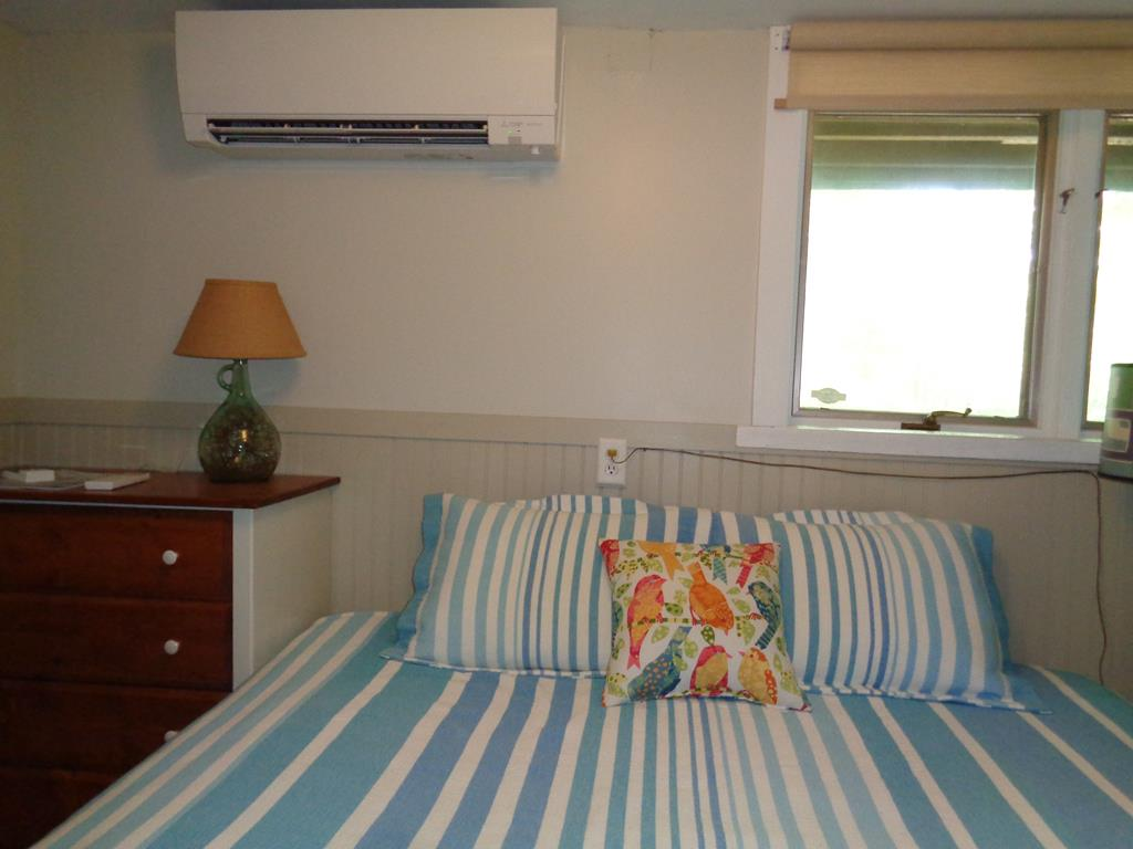 Downstairs Bedroom is a king with AC