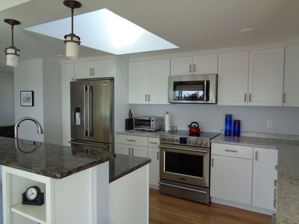 Kitchen gets a lot of natural light