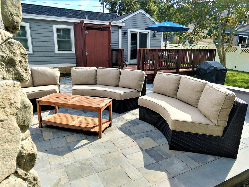 COZY UP and watch an outdoor flame upon the new patio with FIREPLACE!