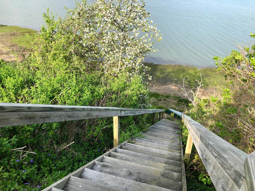 You can tie up your kayak at the bottom of the stairs or launch from nearby Hemmingway Landing