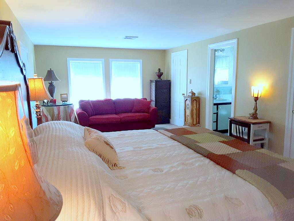MASTER BEDROOM with KING SIZE BED and pull-out sofa